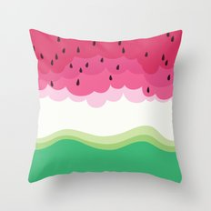 Big watermelon Throw Pillow