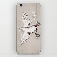 rap iPhone & iPod Skins featuring Rap Won't Save You by Davies Babies