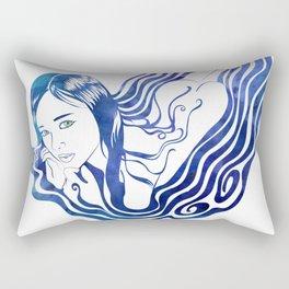 Water Nymph IX Rectangular Pillow