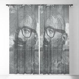 Eco Hipster Black and White Sheer Curtain