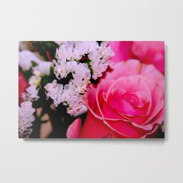 Pink Rose Bouquet Metal Print