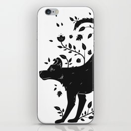 Dogs of Fall - black and white iPhone Skin