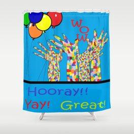 ASL Yay! Shower Curtain