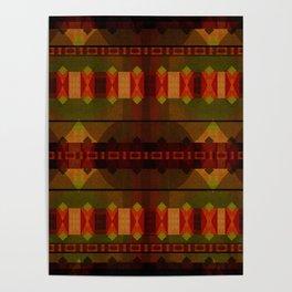 """Full Colors Tribal Pattern"" Poster"