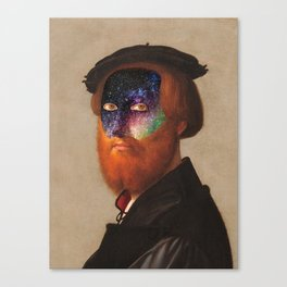 Man with a starry Face Canvas Print
