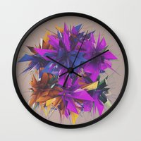 low poly Wall Clocks featuring Low Poly by Schmeez