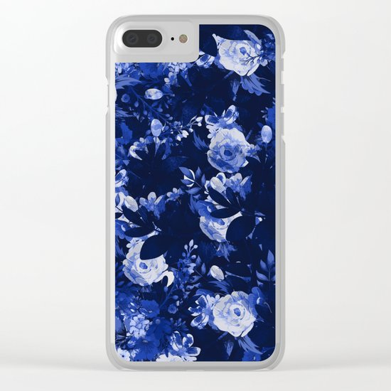Night Botanical Garden Clear iPhone Case