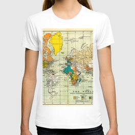 Map of the old world T-shirt