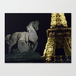 Guarding the Tower Canvas Print