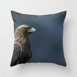 GOLDEN EAGLE PORTRAIT Throw Pillow