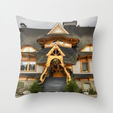 Polish Mountain House Throw Pillow