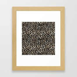 Small Brown and Black Leopard Print Framed Art Print