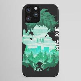 Minimalist Silhouette Deku iPhone Case
