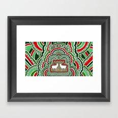 Christmas Kisses Framed Art Print