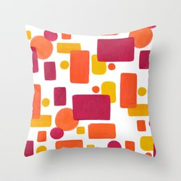 Colorplay No. 1 Throw Pillow