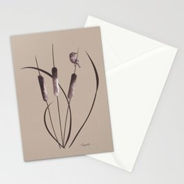 Cattails and Bird Stationery Cards