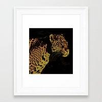jaguar Framed Art Prints featuring Jaguar by Die Farbenfluesterin