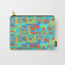 Abstract Patchwork Pixelquilt Carry-All Pouch