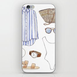 Beach outfit iPhone Skin