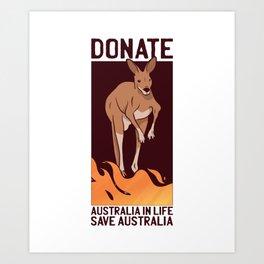 Donate for Australia Art Print