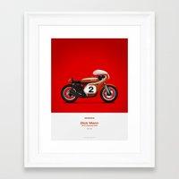 honda Framed Art Prints featuring Honda CR750 by GarageProject101