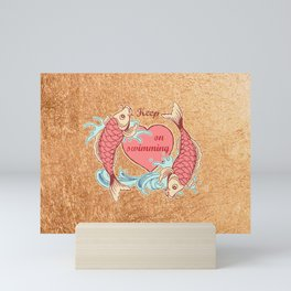 Keep on swimming Mini Art Print