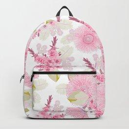 Pink Australian Bush Flowers Backpack
