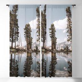 Alpine Lake Reflections Blackout Curtain