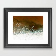 Silver Weeds Framed Art Print