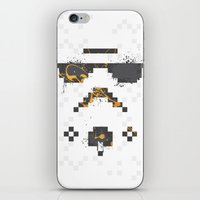 8 bit iPhone & iPod Skins featuring 8-bit Trooper by Sitchko Igor