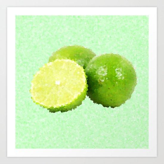 Abstract Limes Art Print