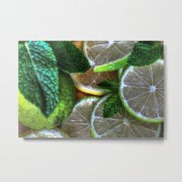 Citric Limes Metal Print