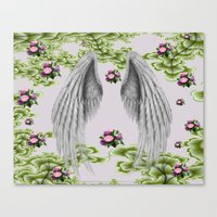 angel wings Canvas Prints featuring angel wings by karens designs