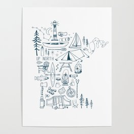Minnesota Up North Collage Poster