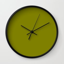 color olive Wall Clock