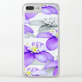 Spring Forest Blue Flowers #decor #society6 #buyart Clear iPhone Case