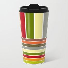 Autumn Colors Stripes Travel Mug