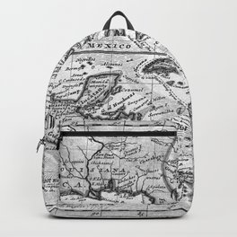 Vintage Map of the Caribbean (1732) BW Backpack
