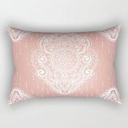 Rose Gold Bohemian Mandala Fall Sunrise Rectangular Pillow