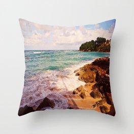 Playa Caliente Throw Pillow