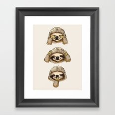 No Evil Sloth Framed Art Print