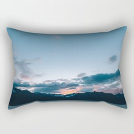 Alaskan Mountain Dawn II Rectangular Pillow