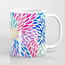 Flowing Leaves Purple & Blue Pattern Coffee Mug