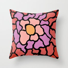abstract shades of red and pink Throw Pillow