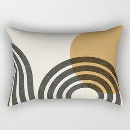Mid century modern - Sun & Hills Rectangular Pillow