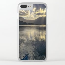 Dusk over Kaneohe Bay Clear iPhone Case