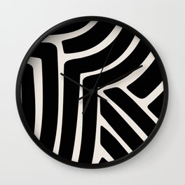 Abstract Stripes VII Wall Clock