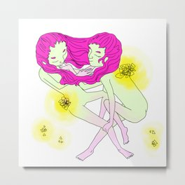 Twin Girl Metal Print
