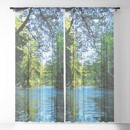 Water Trails Through Mt. Rainier National Park Sheer Curtain