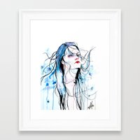 agnes cecile Framed Art Prints featuring Agnes Cecile inspired painting  by SOLMONTASER